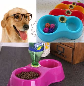 Pet Dog Puppy Cat DR Automatic Water Dispenser Food Dish Bowl