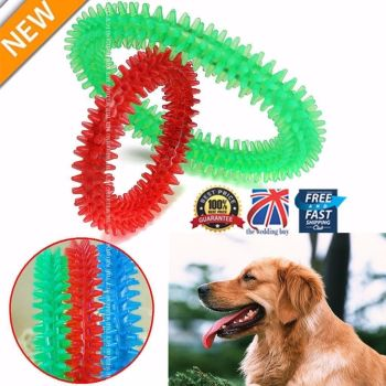2 X Rubber Pet Dog Puppy Healthy Dental Teeth Cleaning Gums Chew