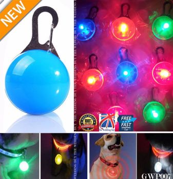 LED Safety Dog Cat Night Light Flashing Colour