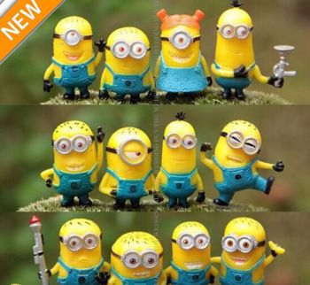 12pcs Cute Despicable Me 2 Minions Movie Character Figures