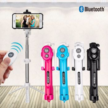 Mobile Phone Tripod + Bluetooth + Extendable Remote Shutter Selfie Stick Monopod