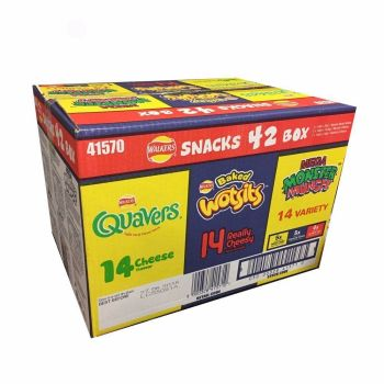 Walkers Snack 42 Pack Variety Crisp Bx - Wotsits, Quavers & Monster Munch