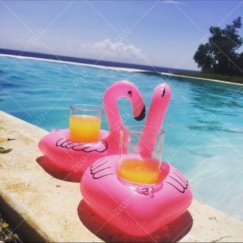 HOT Flamingo Floating Inflatable Drink Can Holder