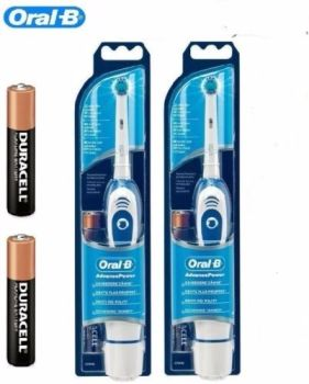 Oral-B Advance Power 400 DB4010 Battery Powered Electric Toothbrush - Duo 2 Pack