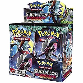 4x Pokémon Sun & Moon Guardians Rising Trading Card Game Booster Pack (4 sealed packs)