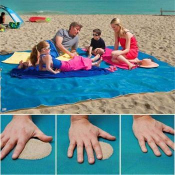 Magic Sand Free Beach Mat Outdoor Picnic Camping Large Mattress Waterproof Bags