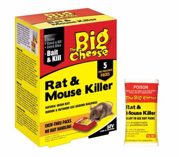 5 X 40G THE BIG CHEESE RAT & MOUSE KILLER