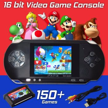 HANDHELD PORTABLE PXP PVP 16 BIT CONSOLE 150 RETRO MEGA DRIVE DS VIDEO GAME