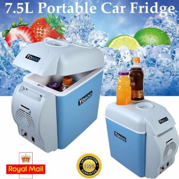 Portable 7.5L Mini Car Fridge Freezer