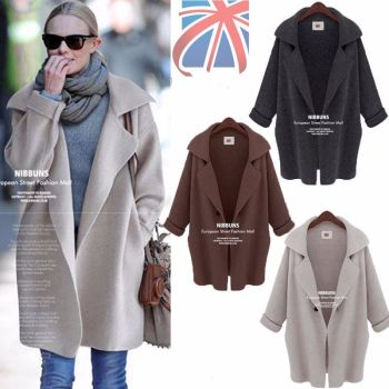 3/4 Sleeve Knitted Parka Trench