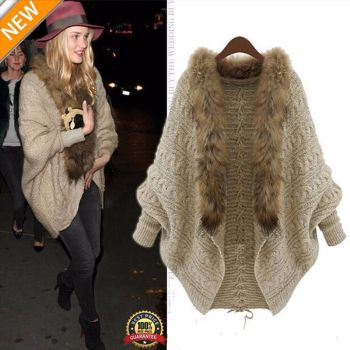 Loose Knitted Winter Batwing Cardigan