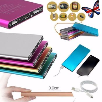 50000mAh External Power Bank Pack Portable USB Battery Charger Mobile Phone SLIM