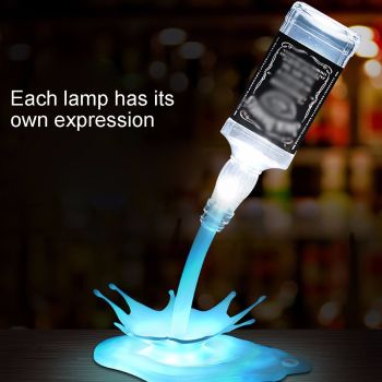 7 Color 3D USB Pouring Wine Lamp LED Nigh Llight Table Wine Bottle Touch Control