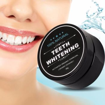 Natural Teeth Teeth White Activated Whitening Powder Organic Charcoal Bamboo