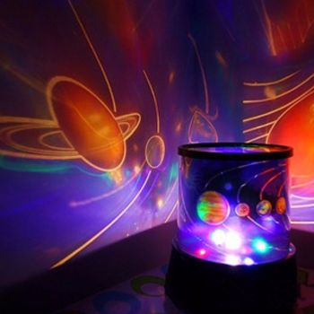 CHILDRENS UNIVERSE PLANET NIGHT LIGHT SKY LED PROJECTOR MOOD LAMP