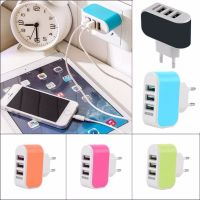 Portable 3-Port LED USB Travel Wall AC Charger Adapter For iPhone 5 6 6s EU