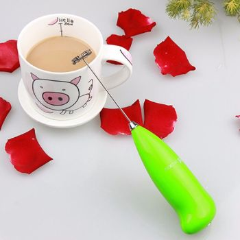 Electric Battery Powered Whisk Coffee Milk Mixer Stirrer Frother Egg Beater