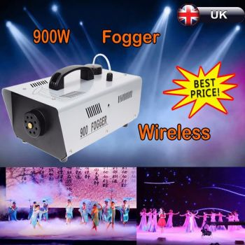 900w Wireless Smoke fog Maker machine Set Remote for DJ Stage Effect Party