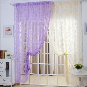 Voile Butterfly Drape
