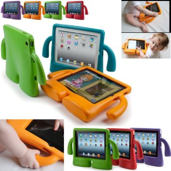 3D Kids Cute Shockproof Foam Child Soft Grip Stand Cover Case for iPad 234 - Red