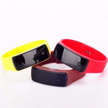 Girls / Boys LED Silicone Touch Screen Ultra Thin Jelly Digital Sports Watch
