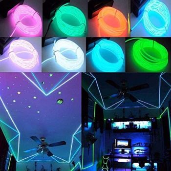 5M Battery Operated Luminescent Neon LED Lights