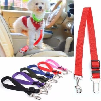 Pet Dog Cat Car Safety Seat Belt Harness Restraint Adjustable Collar