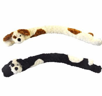 Door Draught Excluder Seal Dog Micro fleece Soft Cuddly Draft Wind Stopper