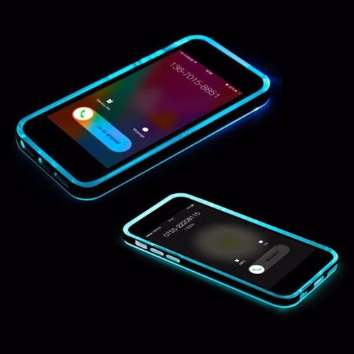 New Cool Incoming Call LED Blink Transparent Case Cover for Apple iPhone 6S