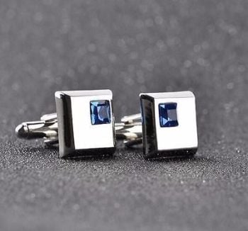 Cuff Square New Crystal Men's Vintage Links