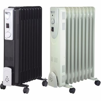 2000W 9 FIN PORTABLE OIL FILLED RADIATOR HEATER ELECTRICAL OFFICE HOME NEW DD1