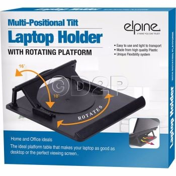 LAPTOP HOLDER NOTEBOOK TRAY COOLING SWIVEL 360° RISER PLATFORM ADJUSTABLE STAND
