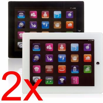 2 X IPAD GLASS CHOPPING BOARD KITCHEN VEGETABLES MEAT FRUIT SLICING CUTTING