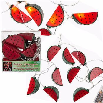 10 LED WATERMELON COLOUR FAIRY LIGHT NOVELTY LIGHTS INDOOR STRING PARTY