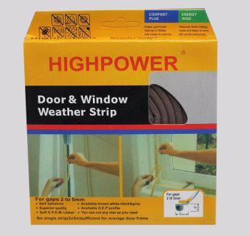 Adhesive Roll Foam Draught Excluder Weather Seal Strip Insulation Door Window
