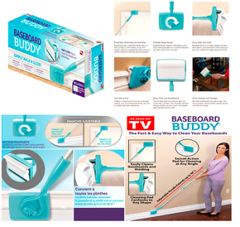 Baseboard Buddy Simply Walk And Glide Microfiber Dust As Seen On TV