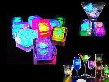 12x Flash Ice Cube LED Color Luminous in Water