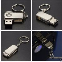1TB/2TB Stainless Silver Swivel USB 2.0 Flash Drive Memory Stick