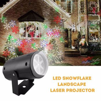 Cool Snowflake Moving Sparkling LED Landscape Laser WAS - £59