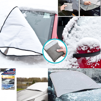 2 x MAGNETIC WINDSCREEN COVER CAR ICE FROST SNOW ALL WEATHER SUN SHIELD SCREEN