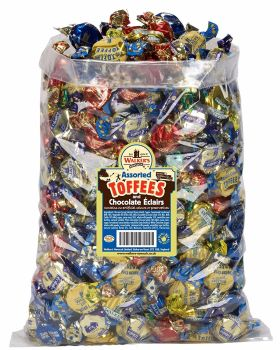 WALKERS NONSUCH Assorted Toffees and Chocolate Eclairs Bulk Bags, 2.5kg