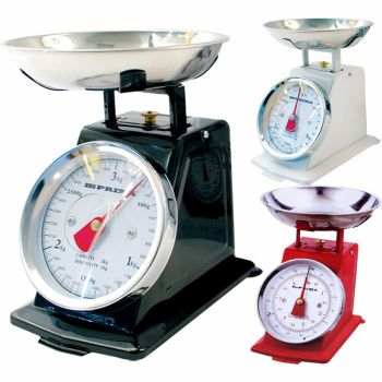 3KG TRADITIONAL WEIGHING KITCHEN SCALE BOWL RETRO SCALES MECHANICAL VINTAGE