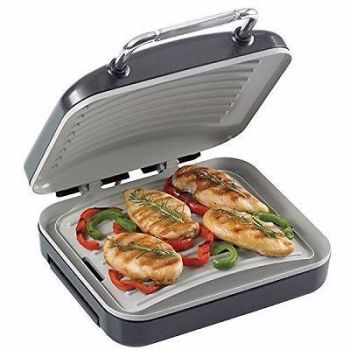 HAIRY BIKERS HEALTH GRILL PANINI MAKER SANDWICH PRESS GRIDDLE DRIP TRAY LOW FAT