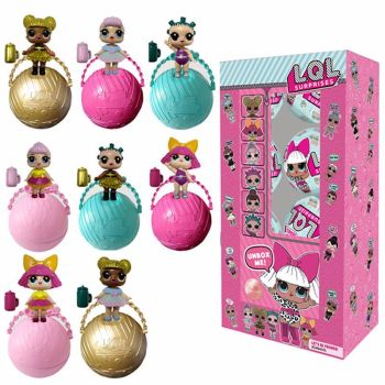 4 X LOL Lil Sisters 3 Layer Surprise Ball Series 2 Doll