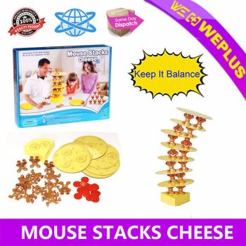 Mouse Stacks Cheese Tower Game Kids Toys