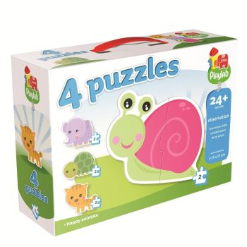 Playlab 4-In-1 Puzzles 4 x 2 Pieces Children's Puzzle by Jumbo