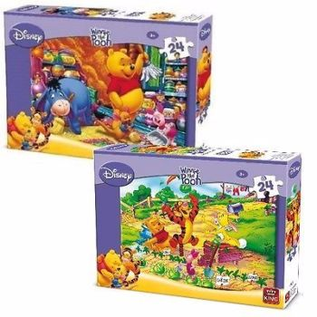 2 x Childrens Kids 24 Piece Disney Jigsaw Puzzle Winnie The Pooh & Eeyore