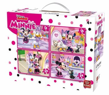 4 IN 1 CHILDRENS DISNEY JUNIOR MINNIE MOUSE & DAISY DUCK JIGSAW