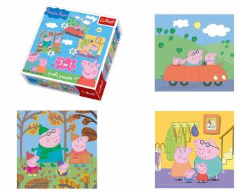 Trefl 3 in 1 Unisex Peppa Pig Kids Children Jigsaw Puzzle