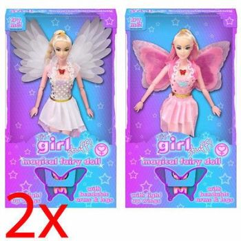 SET OF 2 MAGICAL FAIRY WITH LIGHT UP WINGS DOLL